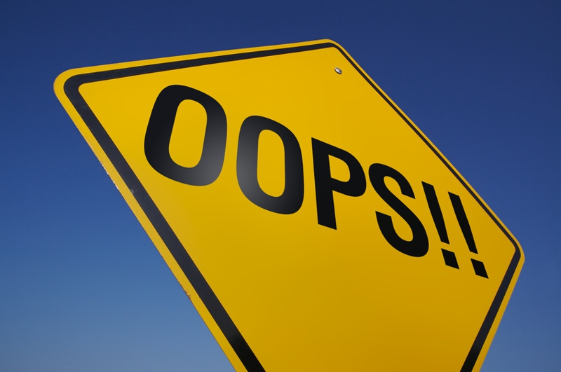 Picture of oops sign
