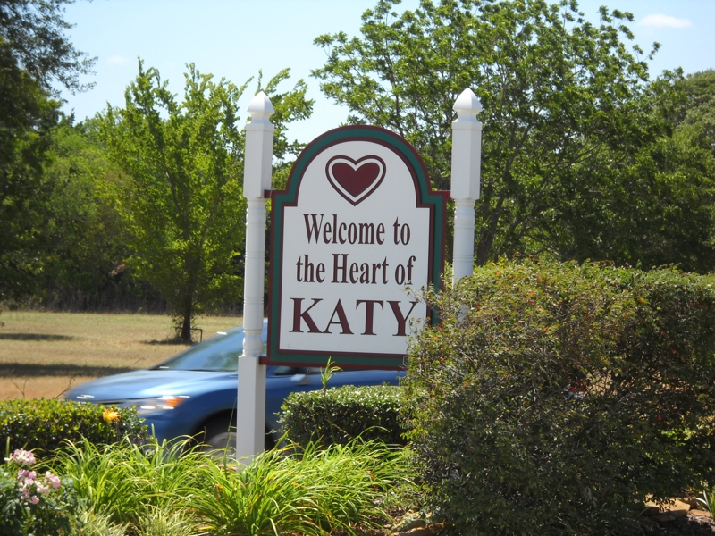 Welcome to Katy Texas sign