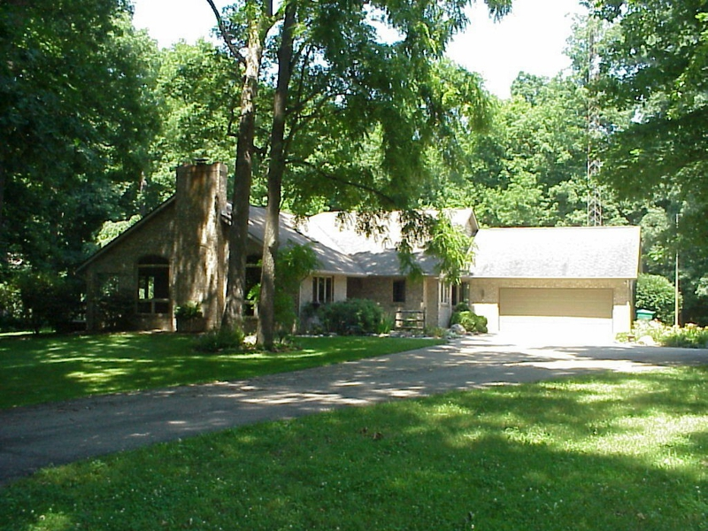 West Lafayette 3 bedroom home for sale with wooded acreage and winding creek near Purdue listed for sale by Sharon Walter Keller Williams Realty Lafyette, IN 47905, 47906