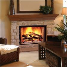 homes with wood burning fireplace