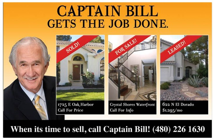 Captain Bill Can Help Sell Your Val Vista Lakes Home