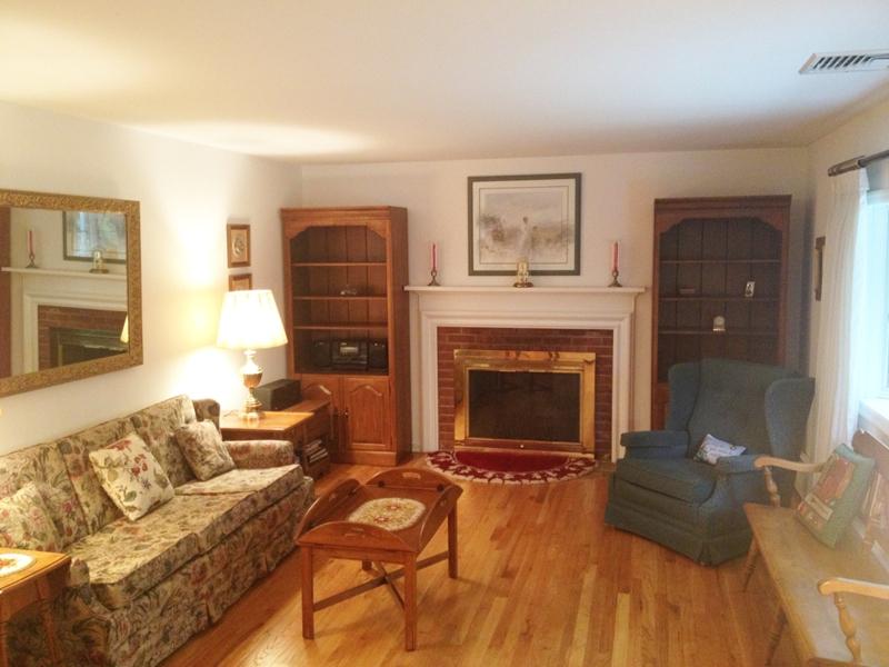 living room at 1 Chipmunk Lane in Wilton, CT