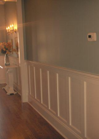 wainscotting in foyer