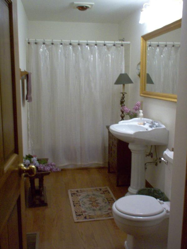 bathroom from drab to spa like in a small space