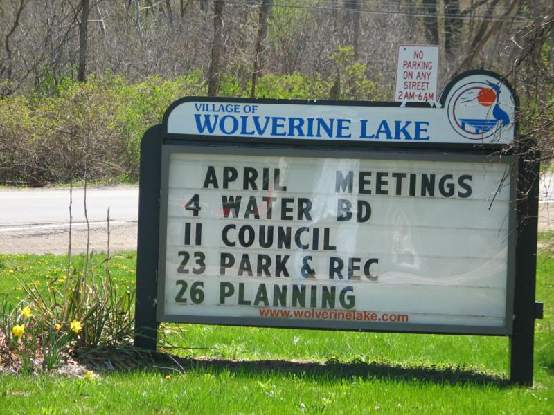 Wolverine Lake Village Notices