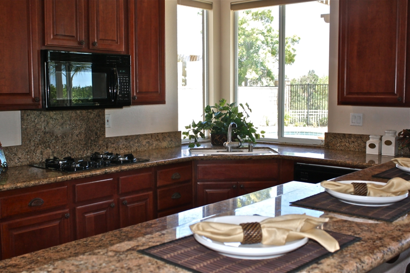 Murrieta Home Staging Kitchen with Pool View