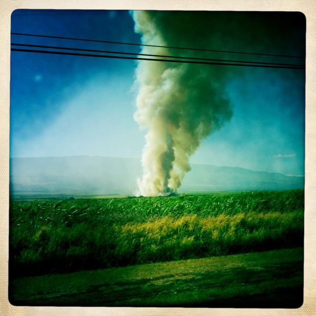 Wordless Wednesday - cane fire on Maui