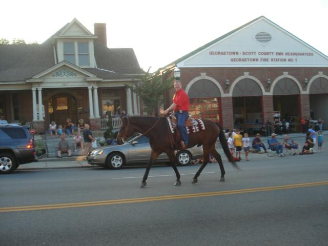 State Senator Damon Thayer rides in the Festival of the Horse Grand Parade