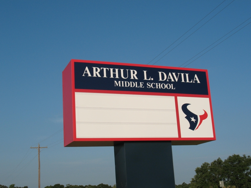 New Davila Middle School In Bryan. Arthur L. Davilia Middle School