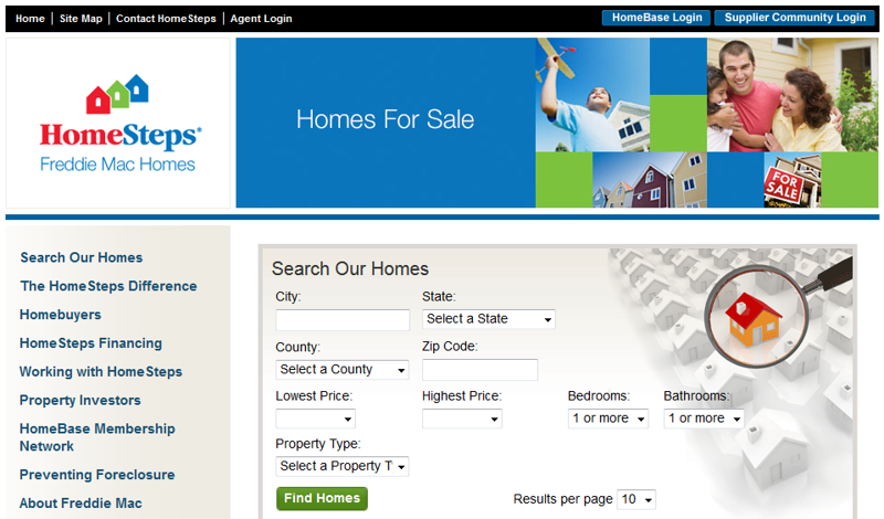 Foreclosures and Government Owned - Freddie Mac HomeSteps