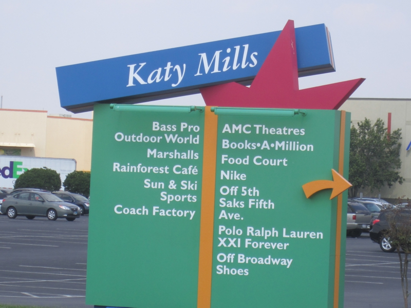 Arrived at Katy Mills Mall in Katy Texas