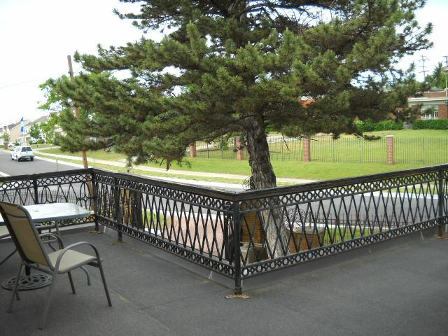 One of the many terraces from which to enjoy your view at the Kennedy Mansion Bed & Breakfast