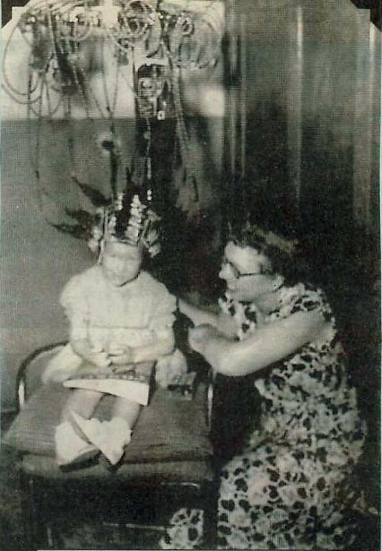 antique perm machine