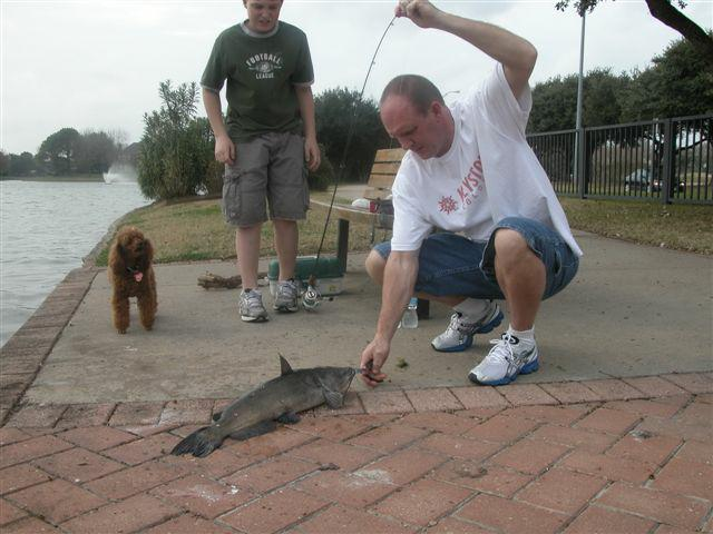 boy & dad with big catfish