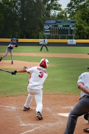 Kennon at bat during Southwest Regionals