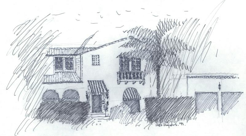 Sketch of Miami Shores Historic Home