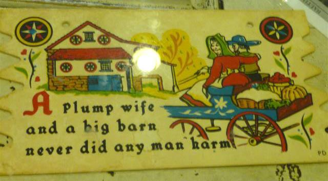 A Plump Wife Sign