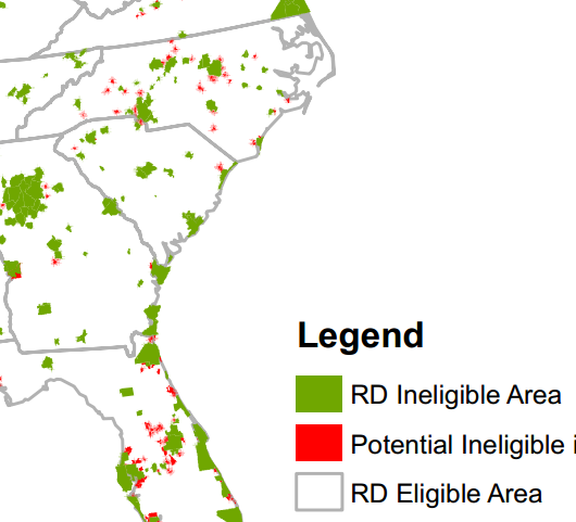 Usda Loan Florida Map.21 Communities In Nc Could Be Ineligible For Usda Home Loans 10 1 12