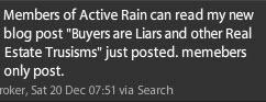 Buyers are Liars tweet