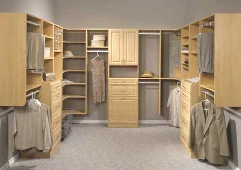 Beautifully Organized Walk-In Closet Space