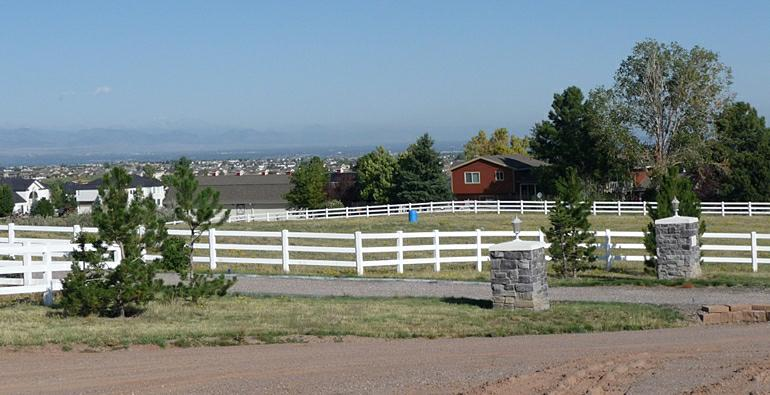 Home and horse property at McArthur Ranch in Littleton Colorado
