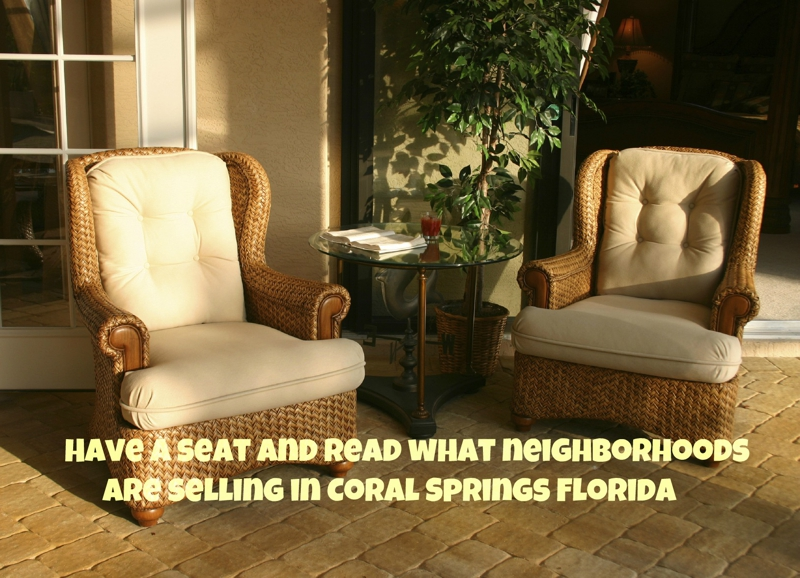 Selling your home in Coral Springs? See what sold during May 2012