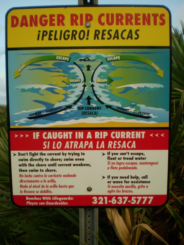 Danger - rip currents