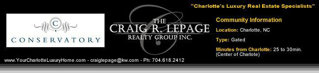 The Conservatory / Charlotte Luxury Real Estate / Luxury Homes / Gated Communities