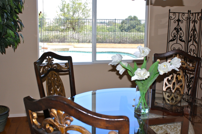 Murrieta Dining Room View of Pool