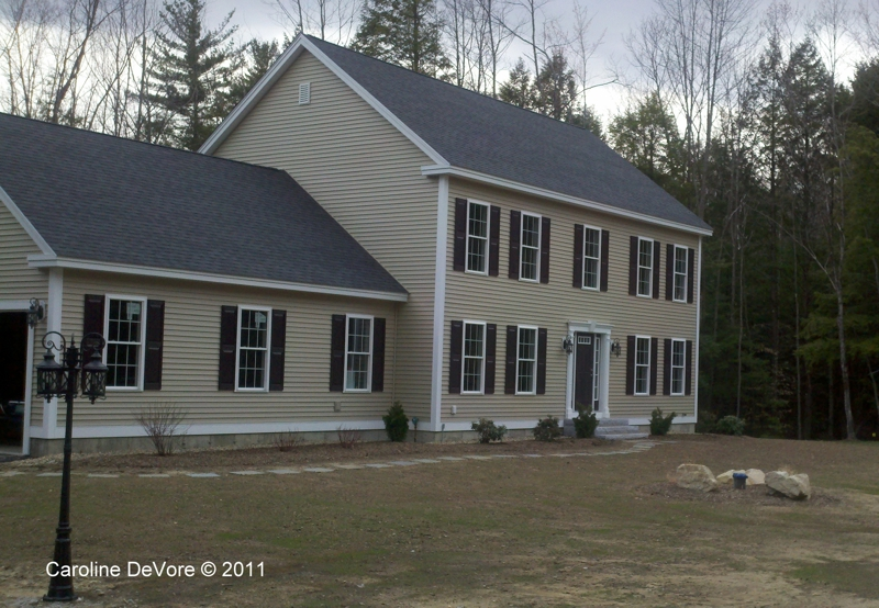 exterior house shutters. Mont Vernon, NH New Construction With Shutters Exterior House