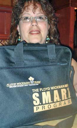 Kim with SMART bag