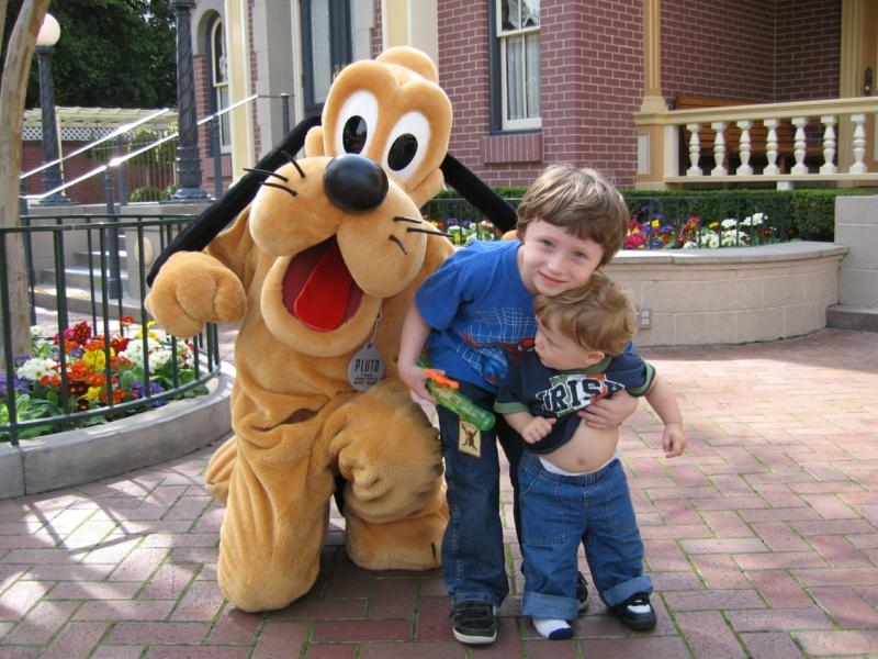 Disneyland with Pluto
