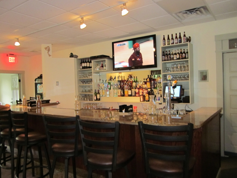 The bar at Charles Cafe Millis MA
