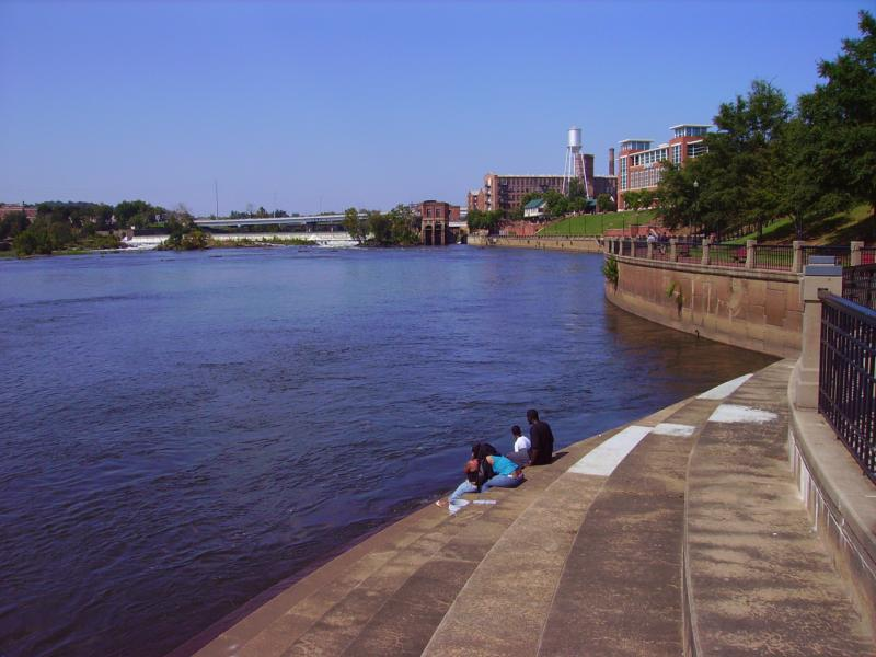 Columbus Ga, Home, to, Fort Benning, Columbus River Walk 10th St to 13th St.