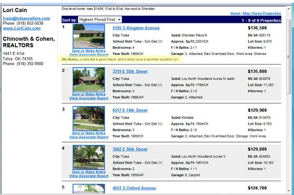 Custom Home Search Results in your Web Portal