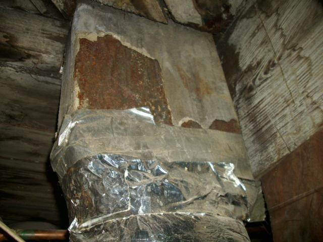 Nashville Home Inspector Asbestos Duct Insulation