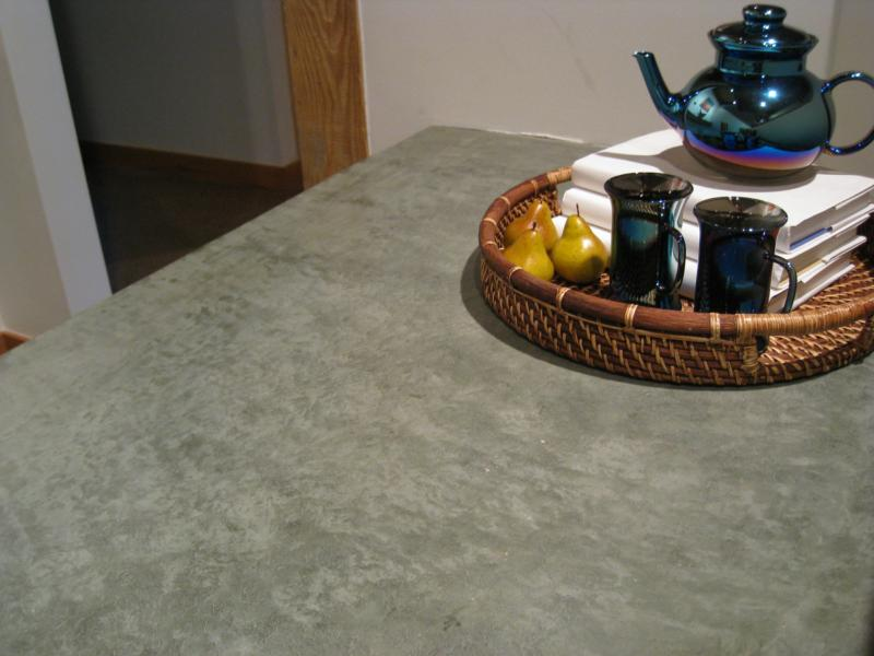 Beautiful floating concrete counter surfaces