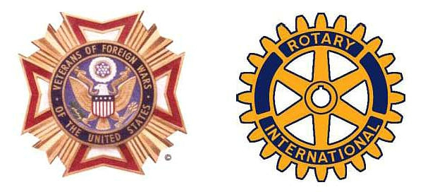 VFW and Rotary logos