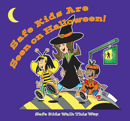 Safe Kids Are Seen on Halloween
