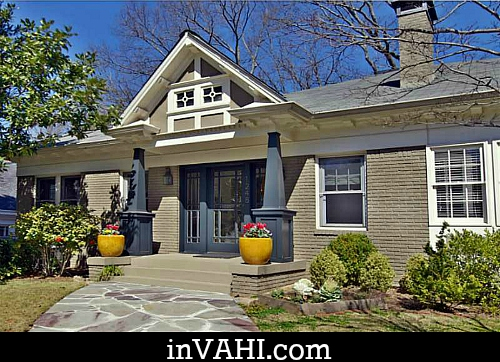 Craftsman bungalow in virginia highland for Craftsman homes atlanta