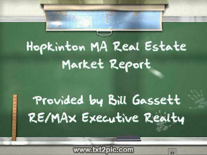 Hopkinton Mass Real Estate market report