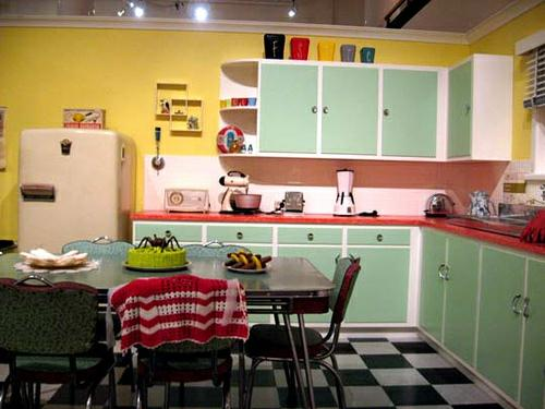 1950s house interior. Kitchens Were Filled With Appliances And Furniture Pieces In An Array Of  Colors Right Out A Bowl Sherbet Pinks Pale Greens Soft Yellows On The ENTER The Time Machine Part IV 1950 S