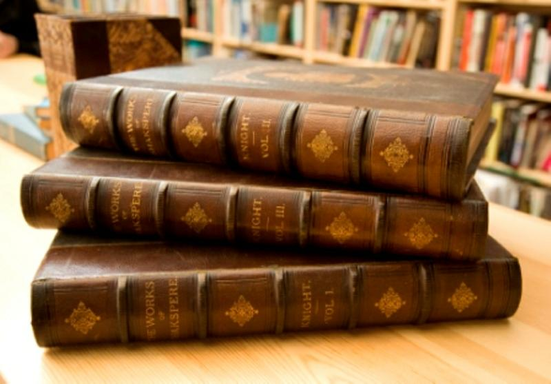 old fashioned hard bound books