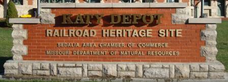 Katy Depot, Sedalia Area Chamber of Commerce, Missouri Department of Natural Resources