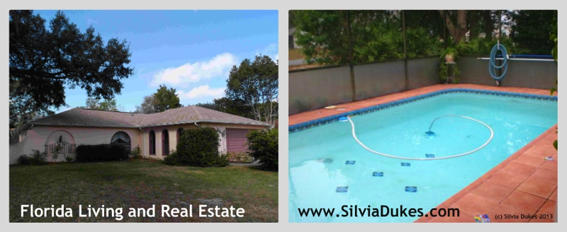 Pool Home for Sale in Spring Hill Florida Photo by Silvia Dukes
