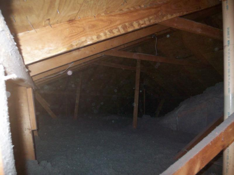 Newly Re-Insulated Attic