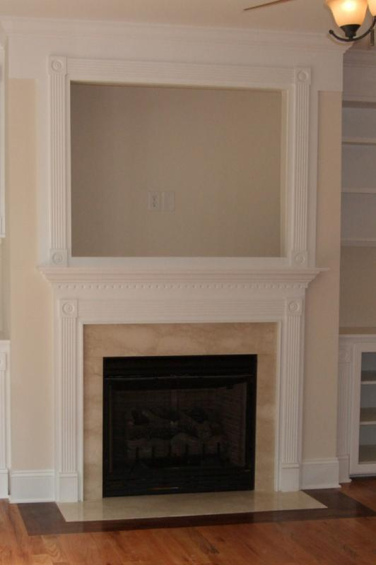Fireplace Surrounds and Mantles - Cherry Wood Accents
