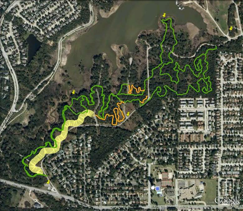 Bikes Grapevine Tx Northshore Trail Map