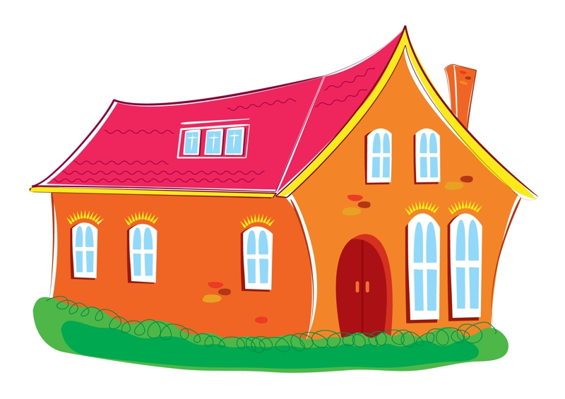 Dreamstime Brightly Painted House