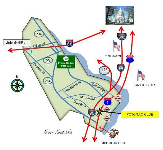 Map Location of Potomac Club Woodbridge VA